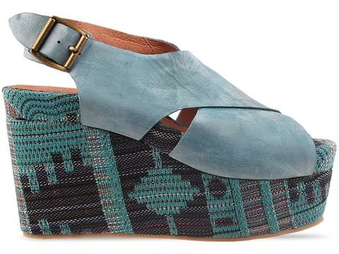 Jeffrey Campbell Pisa Fab in Blue Combo Size 6
