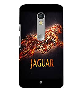 Fuson Jaguar Back Case Cover for MOTOROLA MOTO X PLAY - D3675