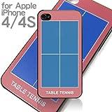 iPhone 4S ケース直接印刷【卓球台柄】テーブルテニス・ピンポンiPhone 4でもOK
