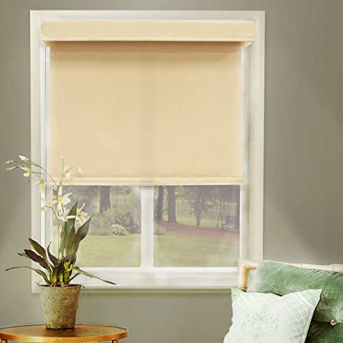 Chicology Free-Stop Cordless Roller Shade, Privacy Fabric, Thermal, Mountain Almond, 31