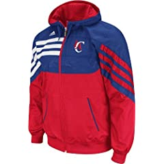 Los Angeles Clippers Adidas Pre-Game On Court Full Zip Hooded Sweatshirt by adidas
