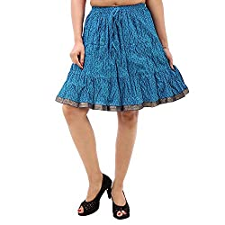 Prateek exports Elegant Printed Blue Fashionable Skirt
