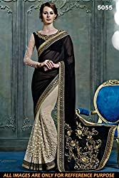 Bikaw Women's Georgette Saree (RS_5000 Series_5055_Multicolor_Free Size)