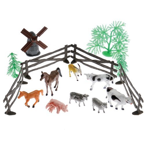 Farm Animals and Landscape Set 1 Count