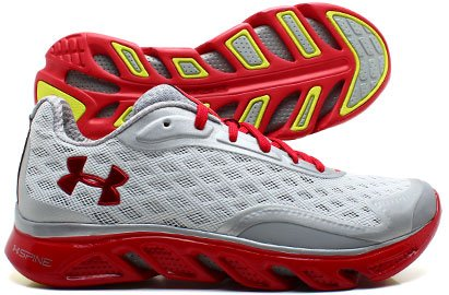 UA Spine RPM Mens Running Shoes White/Red