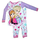 Disney Frozen 2 Piece Cotton Elsa & Anna Pants Pajama Set (4T)