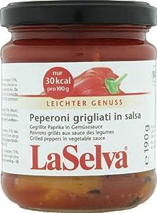 LaSelva Gegrillte Paprika in Gemüsesauce 190g Bio Antipasti, 1er Pack (1 x 190 g) from LaSelva