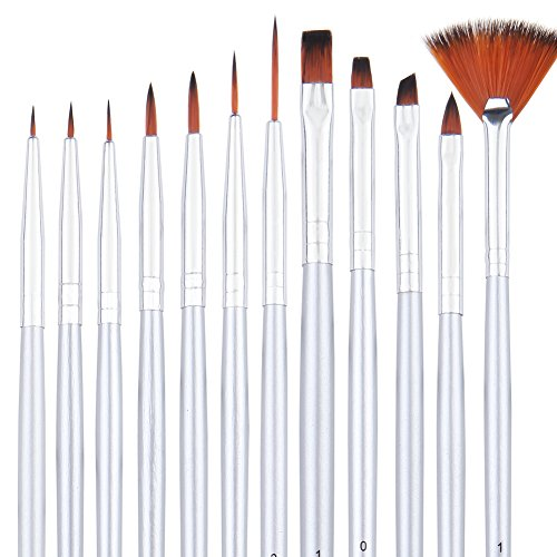 Dainayw Detail Paint Brush Set - 12 Miniature Art Brushes for Fine Detailing & Art Painting - Acrylic Paint, Watercolor, Oil - Miniatures, Models, Airplane Kits, Nail Artist Supplies (Model Car Detailing compare prices)