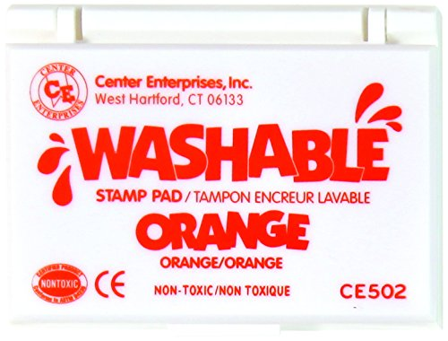 Center Enterprise CE502 Washable Stamp Pads, Orange