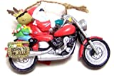 Santa Harley Motorcycle Hog Chopper Christmas Ornament
