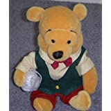"Disney Vintage Style Country Christmas Winnie The Pooh 8"" Plush Bean Bag Doll"