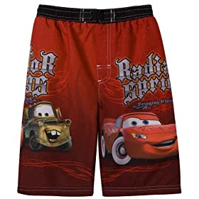 Boys' Cars Swim Trunk - Red