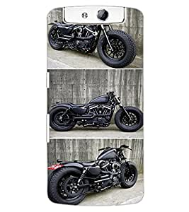ColourCraft Amazing Bike Design Back Case Cover for OPPO N1