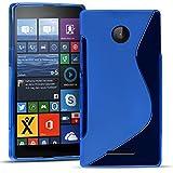 Microsoft Lumia 532 Silikon Hülle Case in Blau Cover Lumia