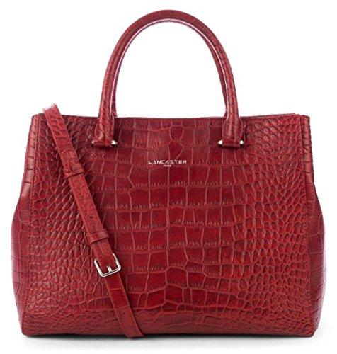 lancaster-petit-cabas-exotic-croco-526-69-rouge
