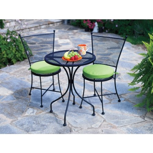 Living accents 3 piece somerset bistro set wrought iron for Living accents patio furniture