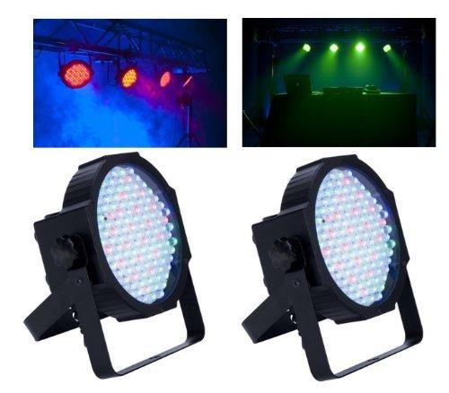 (2) American Dj Mega Par Profile Ultra Bright Led Par Can Wash Dj Effect Lights