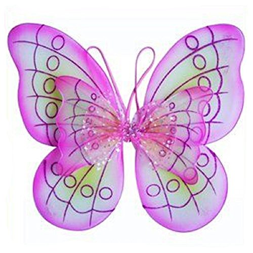 1 X Pink Butterfly Costume Dress-up Wings - 1