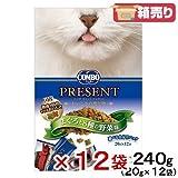箱売り 日本ペット コンボ キャット プレゼント ドライ まぐろと8種の野菜味 240g 国産 お買い得12袋