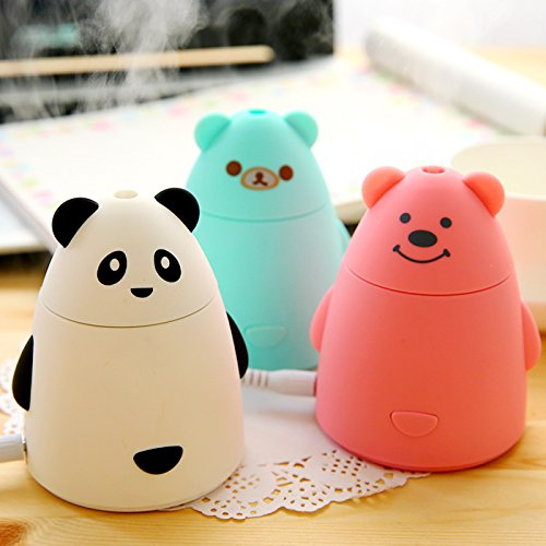 OriGlam Cute Bear Shape Super Mini 80ML DC5V USB Atomizer / Diffuser, Small Mist, Suitable for Baby Office Computer Desks (White) - 1