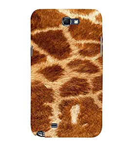 PrintVisa Giraffe Animal Print Pattern 3D Hard Polycarbonate Designer Back Case Cover for Samsung Galaxy Note 2