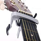 Guitar Capo Made of Aluminium alloySilver color Guitarra Capotraste Top Quality