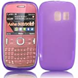 Gel Shell Case Cover For Nokia Asha 302 / Purple