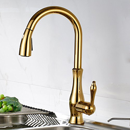 Gold Kitchen Faucet: Top Best 5 Kitchen Faucet Gold Finish For Sale 2016