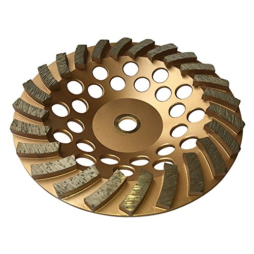 """Grinding Wheels for Concrete and Masonry Available from 4 to 7 Inches - 7"""" Diameter 24 Turbo Diamond Segments 7/8""""-5/8"""" Arbor"""
