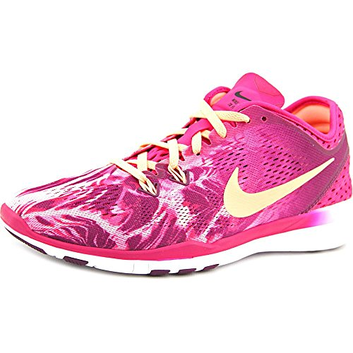 NikeFree 5.0 Tr Fit 5 Prt - Scarpe da corsa Donna , Rosa (Pink (fireberry/sunset glow-mlbrry-black)), 38.5