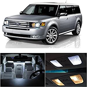 ledpartsnow ford flex 2009 up xenon white premium led interior lights package kit. Black Bedroom Furniture Sets. Home Design Ideas