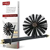 De Vielle 9pc Chimney Cleaning Kit