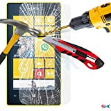 Nokia Lumia 520 Tempered Glass Crystal Clear LCD Screen Protector Guard & Polishing Cloth + RED 2 IN 1 Dust Stopper SVL3 BY SHUKAN®, (TEMPERED GLASS)