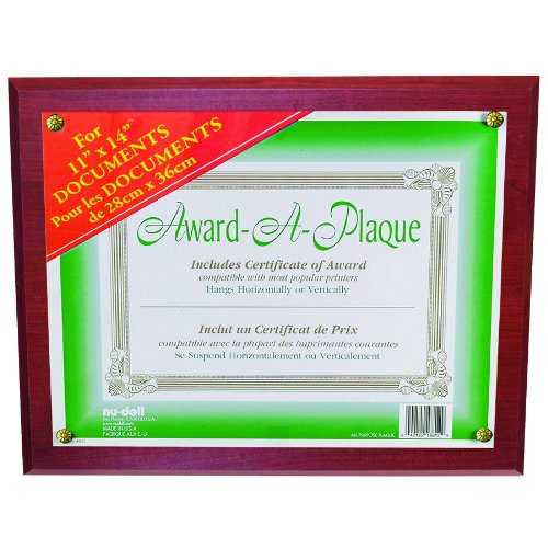 Nu-Dell 11 By 14-Inch Award-A-Plaque Document Holder, Mahogany front-812595
