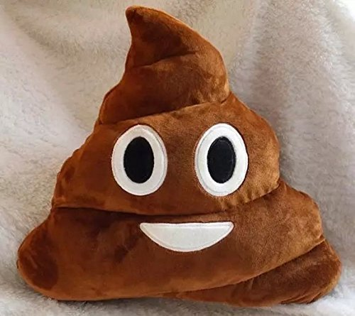 Liyin Stuffed Pillow Cushion Emoji Poop Shaped Smiley Face Doll Toy by Liyin