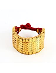 Amethyst By Rahul Popli Gold Silver Cuff & Kadaa Earrings