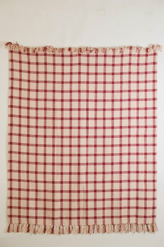"""Clayton Red 50X60"""" Woven Throw Quilt Throw Blanket front-710804"""