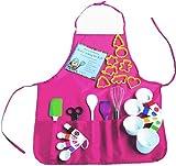 Playful Chef 23 Piece Pink Apron Children's Baking Set