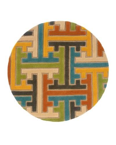 Trade-Am Vibrance Geometric Round Rug