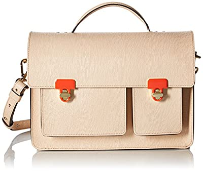 Orla Kiely Textured Leather Rosemary Convertible Shoulder Bag