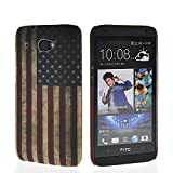 MOONCASE U.S American Flag Pattern Hard Rubberized Coating Back Case Cover for HTC Desire 601 Zara