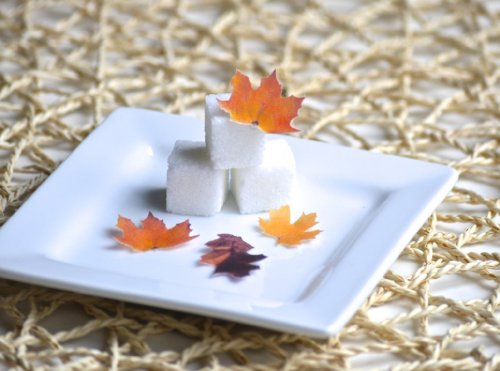 Mini Edible Fall Leaves - Set Of 48 - Cake Decorations, Cupcake Topper front-48642