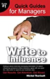 img - for Write to Influence (Quick Guides For Managers) book / textbook / text book