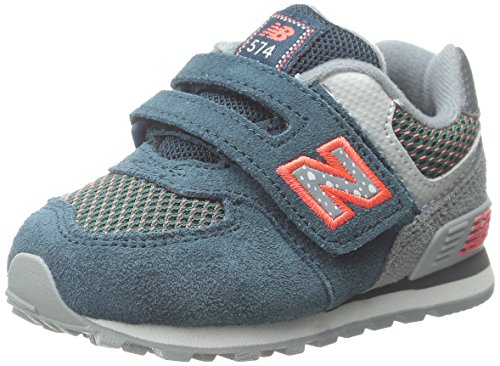 New Balance KG574I Outside Pack Classic Running Shoe (Infant/Toddler), Blue/Grey, 2 W US Infant (New Balance Baby Shoes compare prices)