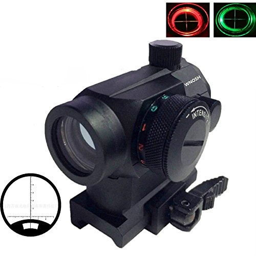 WNOSH-Tactical-Reflex-Red-Green-Dot-Sight-Scope-Riflescope-Optic-Quick-Detach-Riser-Mount-Release-Lens-Covers-Picatinny-Rail-Mount-Holographic-Hunting-Spotting