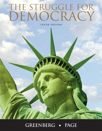 Struggle for Democracy by Benjamin I Page Edward S Greenberg and Greenberg 2010 Paperback Mixed Media