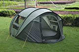 FiveJoy 4-Person Instant Pop-Up Tent - Two Double-Doors Two Windows - Set up and Tear Down in Seconds
