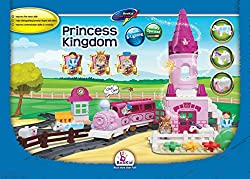 Building Blocks, Princess Train. A Train Set With Battery Operated Locomotive, Lights And Sound