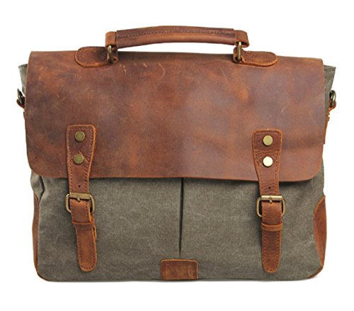 nasis-mens-leather-canvas-shoulder-bag-business-casual-laptop-bag-briefcase-al4013-army-green