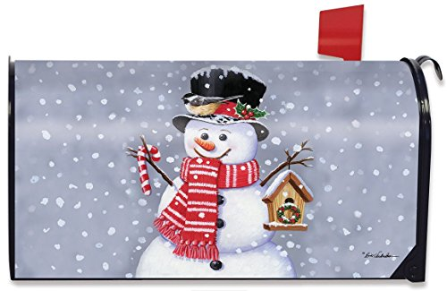 Snowman Magnetic Mailbox Cover Christmas Candy Cane